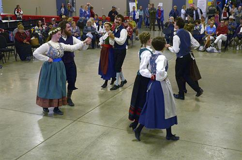 Dancers entertain with traditional dances