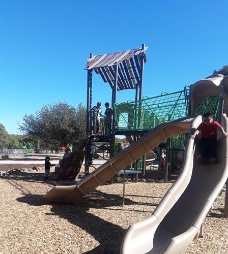 New park equipment at Odom Elementary School Park, thanks to years of advocacy efforts by the GAVA resident leaders who adopted the park!