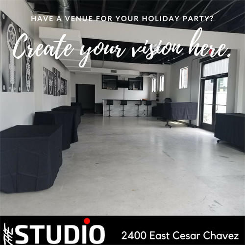 The Studio Venue Holiday Promo