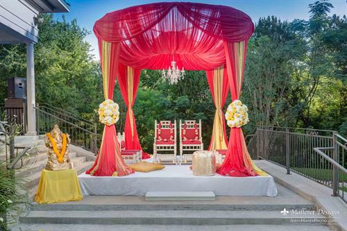 Indian Wedding. Mandap