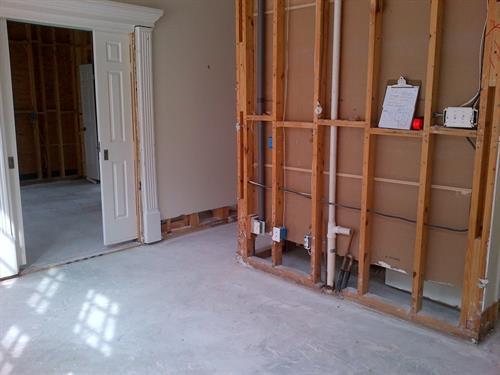 Home restoration after water damage