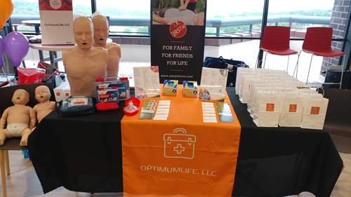 NFP Wellness Expo - 12 Great Vendors present - only one who trains First Aid | CPR | AED