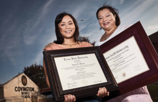Mother and Daughter with College Diploma