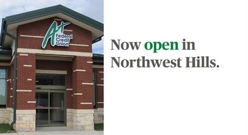 On November 2016 We were excited to announce our newest branch, Northwest Hills, is now open! It is located at 3635 North Hills Drive in Austin at the southwest corner of North Hills Drive and Hart Lane. Learn more about our 21st branch at aplusfcu.org/nwhills.