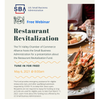 Restaurant Revitalization Fund Webinar