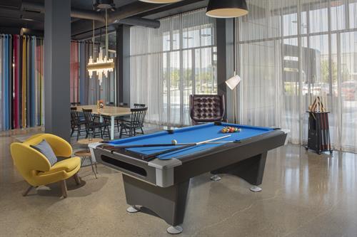 Pool table at Aloft Dublin-Pleasanton