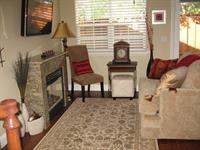 warm, inviting living room at 762 Peters