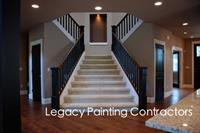Custom staircase interior house painting
