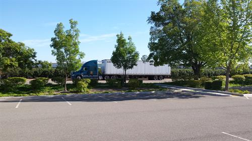 Big Rig Truck Parking directly in front of our location for easy access