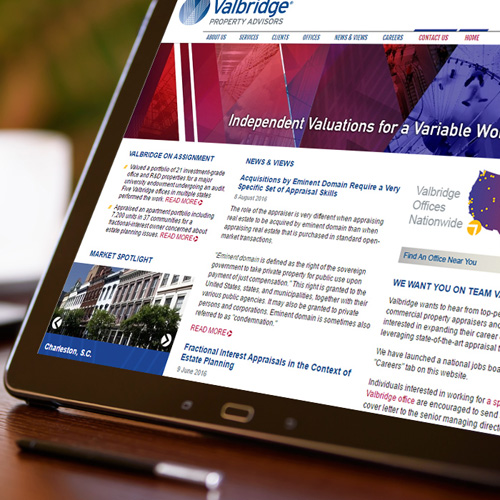 Valbridge Property Advisors responsive web design