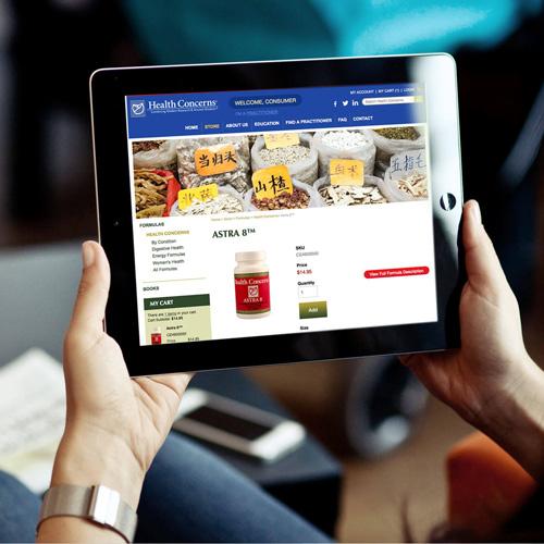 Health Concerns responsive e-commerce website design