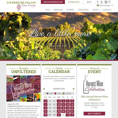 Livermore Valley Winegrowers Association website design