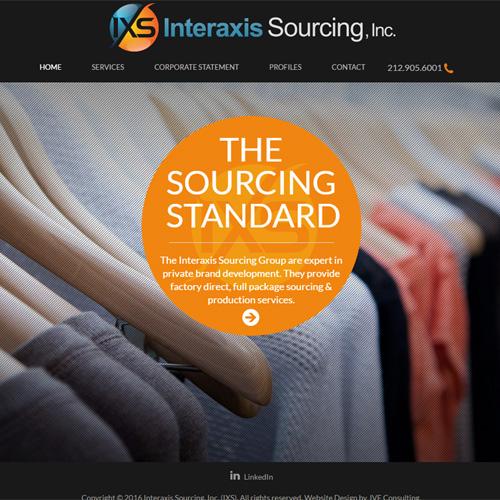 Interaxis Sourcing, Inc. website design