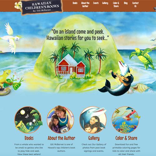 Hawaiian Childrens Books website design