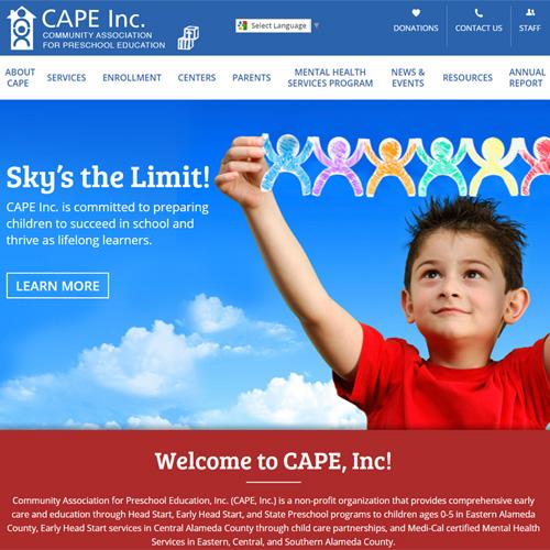 CAPE Head Start website design