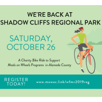 10th Annual Wheels for Meals Ride, October 26