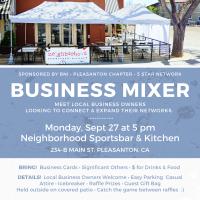 BNI Pleasanton chapter hosts business mixer, 9/27