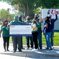 1st United Credit Union Gives $10,000  for A's Homeruns for Hunger