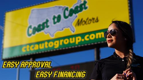 It's EASY to get APPROVED at Coast to Coast Motors!