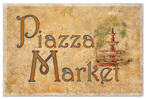 Piazza Market logo, North Beach, San Francisco