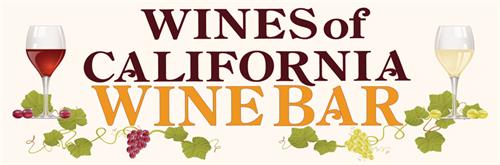 Wines of California Wine Bar logo, Pier 39, San Francisco