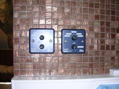 Wall controllers, Spa hotel intercontinental Bora Bora