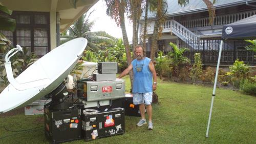 Satellite Transmission in a Pacific Island