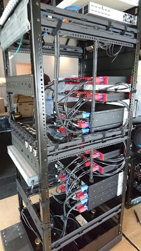 Cabling a rack, Private Island in the Pacific