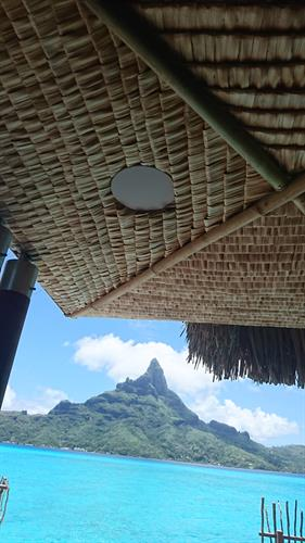 Exterior deck speaker, villa hotel Intercontinental Bora Bora