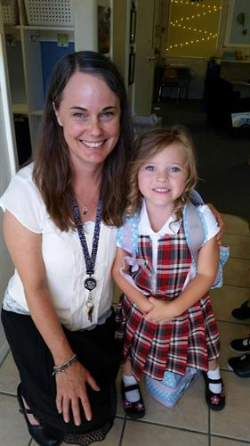 Addison and Mrs Thomas 1st day of school