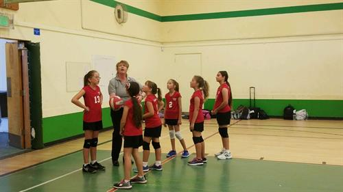Middle School Girls volleyball has started.
