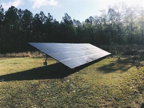 Mounting on the ground is another way to take advantage of solar.