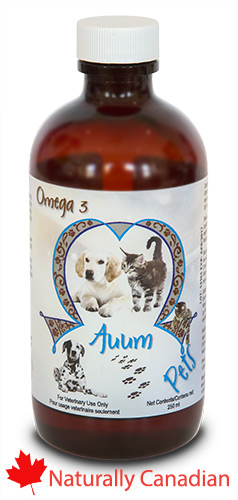 Auum Omega 3 for Pets with Vitamin D, Vitamin A, Vitamin E...easy to pour on food