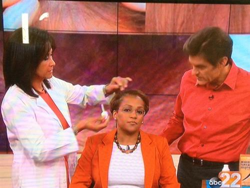 Dr. Candy demonstrates who to use advanced hair loss solutions products like The Lotus Concept's  Rejuv+