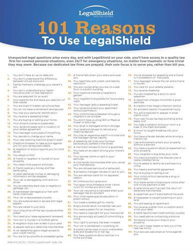 101 Reasons to Use LegalShield for your Business