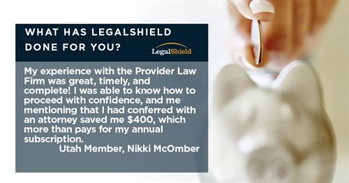 LegalShield Testimonial