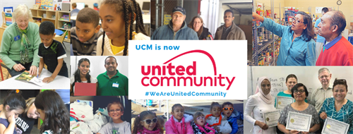 Effective May 3, 2019, United Community is the new name of United Community Ministries, with a new logo
