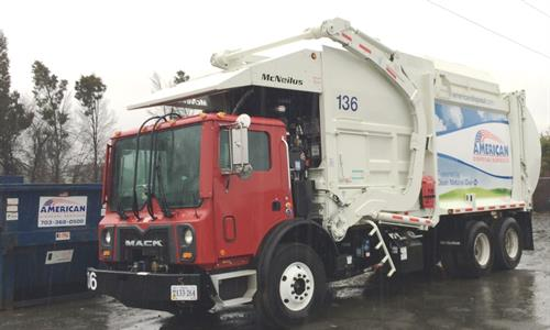 American Disposal Services has implemented a long term plan to replace every diesel powered truck in their fleet with a Compressed Natural Gas (CNG) counterpart. American is dedicated to an entire fleet fueled only on natural gas.