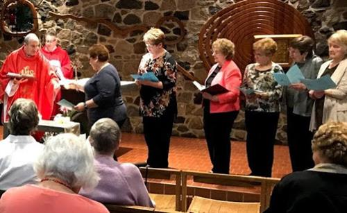 Groups such as the Catholic Women's Club play an important role in the parish