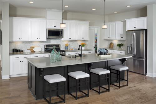 Large kitchen island perfect for entertaining