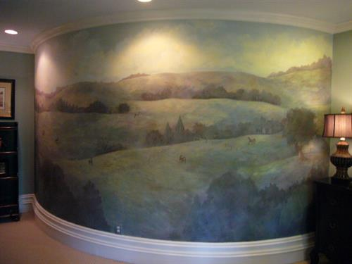 Custom Mural for Teenager who loves Horses