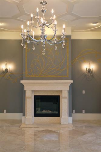 Custom Stencil Design and Installation for Designer Lisa Stewart.