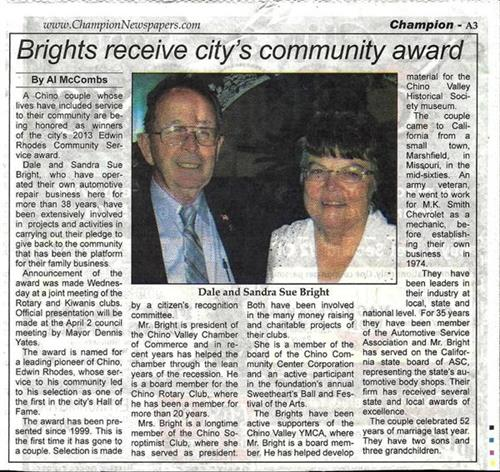 The Edwin Rhodes Community Service Award