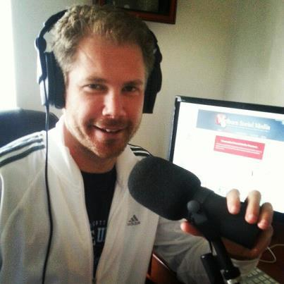 Zeb recording Welborn Media's Defining Success Podcast