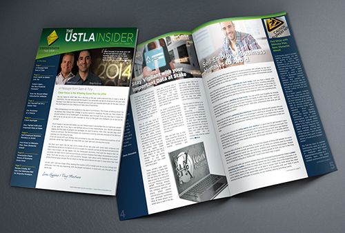 US Tax Lien Association Newsletter Design