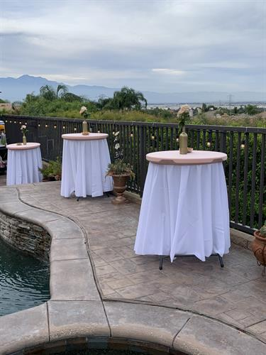 TABLE AND CHAIRS AND LINEN RENTALS