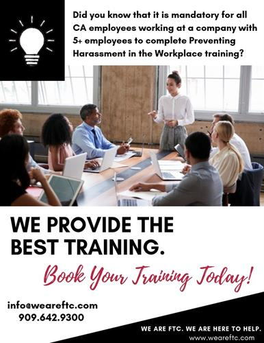 We provide THE BEST TRAINING!