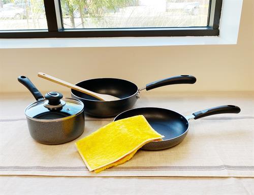 iHomehouseware Nonstick Wok, Frypan and Cooking Pot