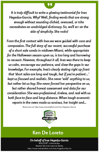 Client Testimonial - buyer and seller