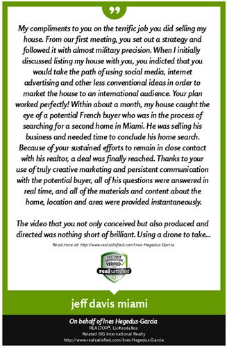 Client Testimonial - Miami Shores Seller